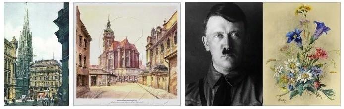 Творцом этих картин является Адольф Гитлер