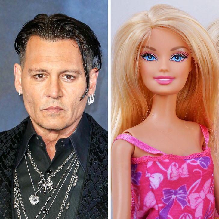 Джонни Депп - гордый владелец десятков кукол Барби